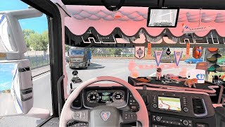 ETS2 (v1.32) - Scania S Next Gen Tuning V8 Open Pipe Sound + Skin + Interior [DLC Krone Trailer]