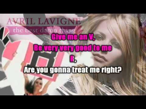 Avril Lavigne - The Best Damn Thing Karaoke / Instrumental