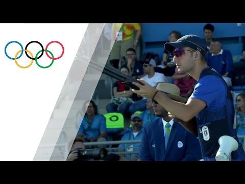 Italy's Rossetti wins gold in Men's Skeet Shooting