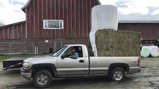 Overweight and over height — heavy load for a Chevy 3/4t