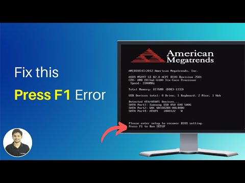 How To Replace CMOS Battery to Fix 'Press F1 to Run Setup' Error?