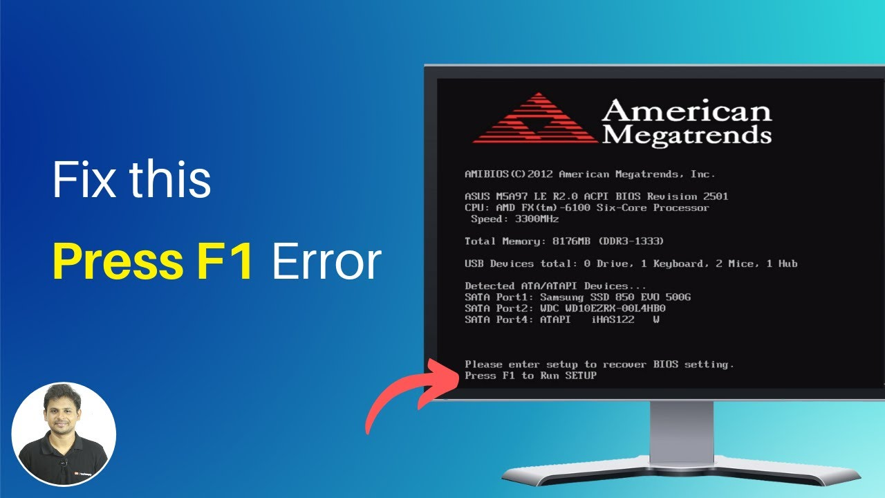 How To Replace Cmos Battery To Fix Press F1 To Run Setup Error