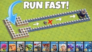 "Who can OUTRUN a TORNADO trap??? ""Clash Of Clans"" troll race!"