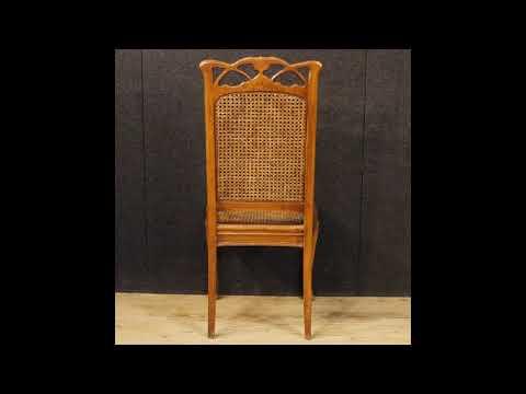 Sedie Francesi In Paglia Di Vienna : 8 sedie francesi in stile art nouveau youtube