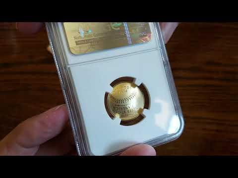 UNBOXING; 2014-W Baseball Hall Of Fame $5 Gold Proof NGC PF 70 UCAM Ripken Hand-Signed