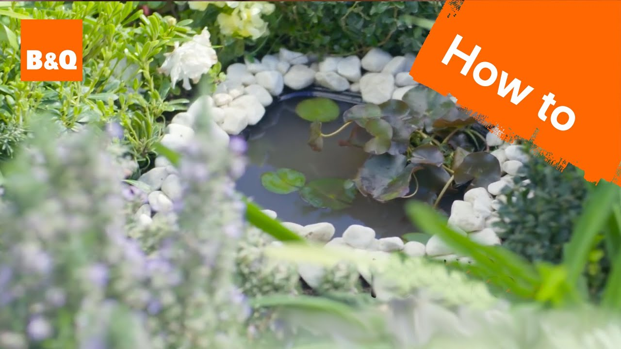 How to make a mini pond youtube for Making a small pond