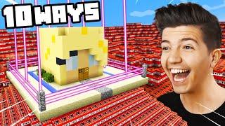 10 Ways to PRANK Brianna's Impossible Minecraft House! (Preston)