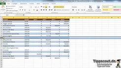 Excel-Video: Zeilen abwechselnd einfärben