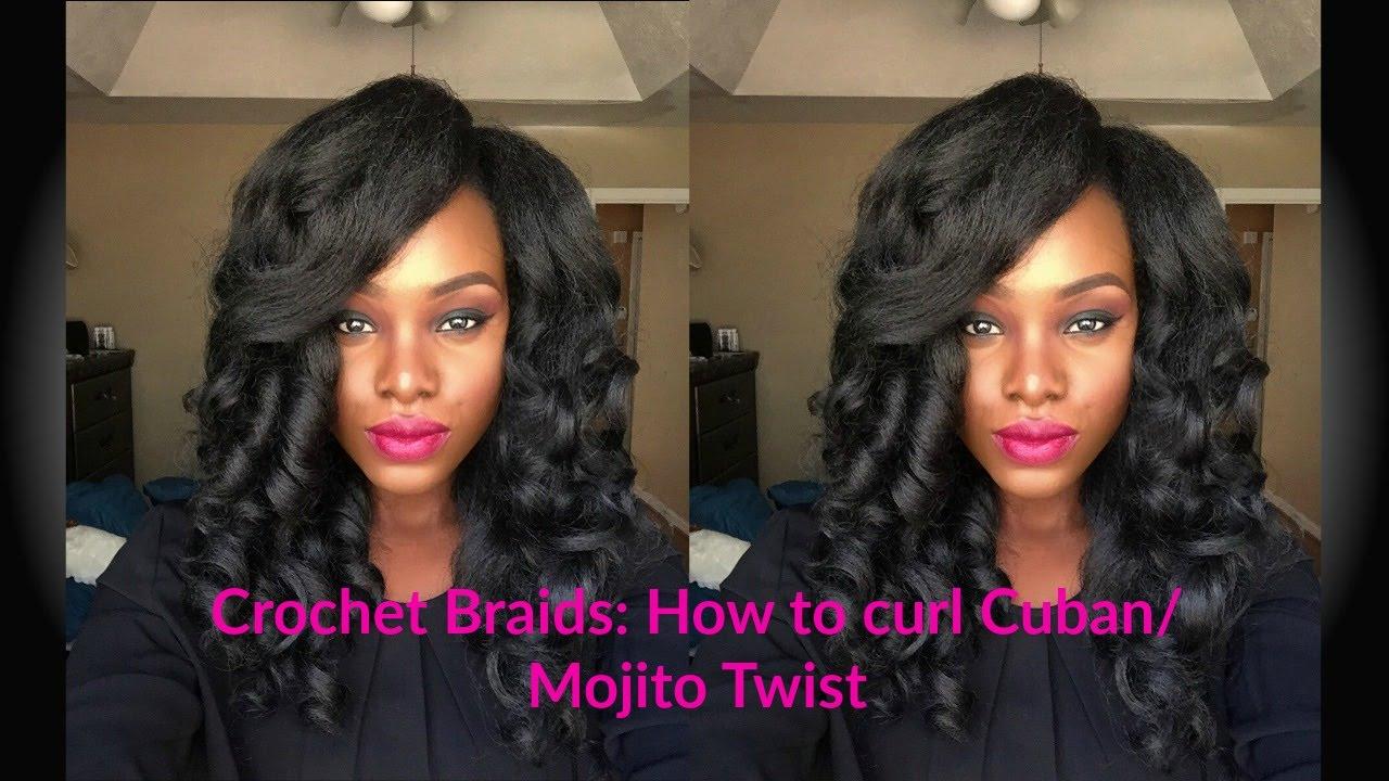 Crochet Braids How To Curl Cubanmojito Twist Tailo Youtube