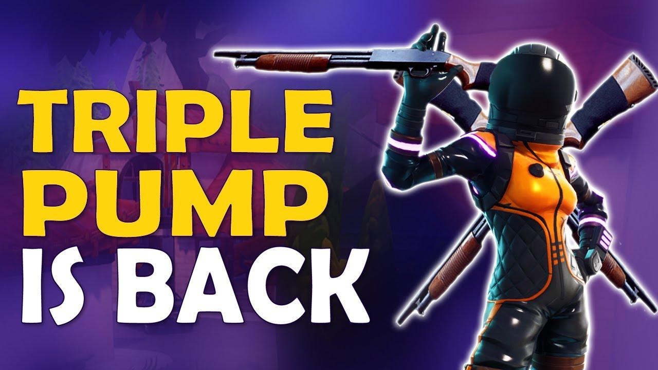 Triple Pump Is Back Double Pump New Update Shotgun Mechanics Fortnite Battle Royale