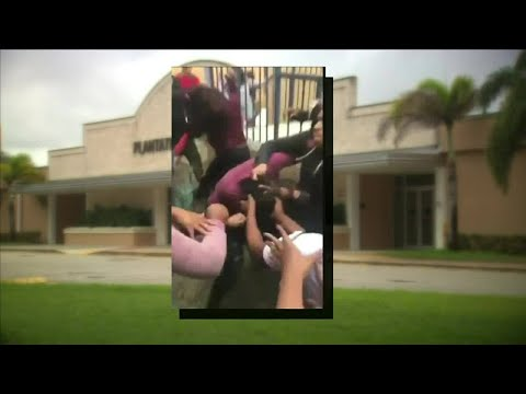 Video shows group attacking girl at Plantation High School
