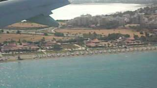 Landing @ Larnaca Airport with Aegean Airlines