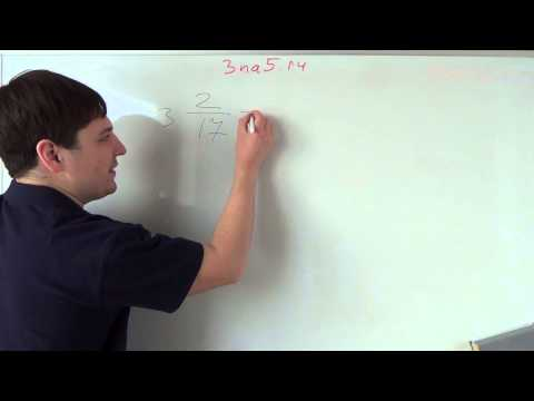 Как переводить в неправильную дробь с целым числом