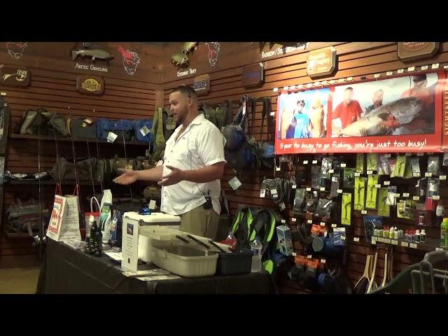 Bass Pro Shops Fishing seminar by Capt Dylan Hubbard | http://www.HubbardsMarina.com