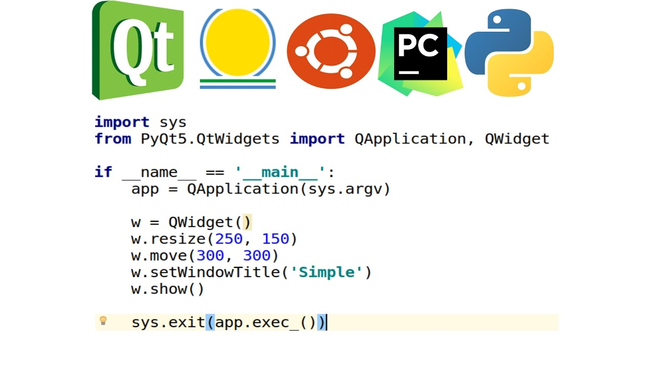 Last Updated - Install Qt5 for python python3 - Python GUI Application