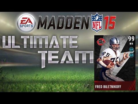 Madden 15 Ultimate Team - Flashback Fred Biletnikoff Debut! Dominance! MUT 15 Gameplay