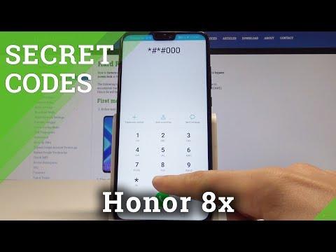 Codes Honor 8x - Hidden Mode / Secret Menu / Advanced Options