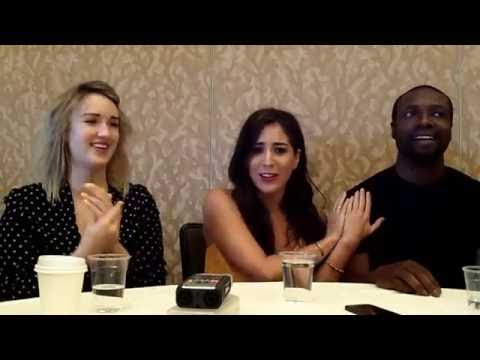 Interview with Ashley Johnson, Audrey Esparza & Rob Brown of NBC's Blindspot at Comic-Con 2016