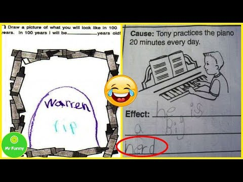 Top 10+ Brilliant Test Answers From Smartass Kids   Mr Funny