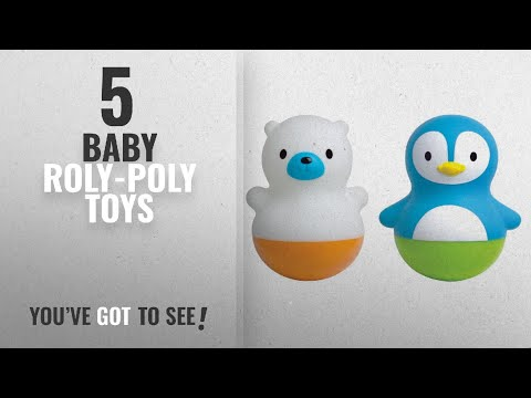Top 10 Baby Roly-Poly Toys [2018]: Munchkin Bath Bobbers Bath Toy