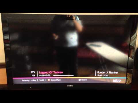 Malaysian free-to-air TV channel surfing on Astro 16.8.2014