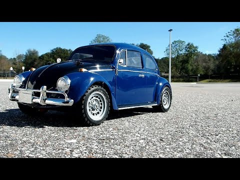 Tamiya MF-01X Volkswagen Beetle Rally running video