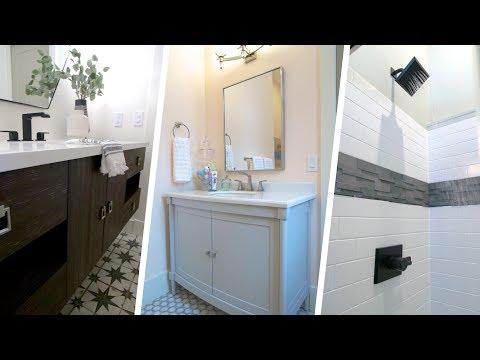 3 Amazing Bathrooms – 3 Different Styles