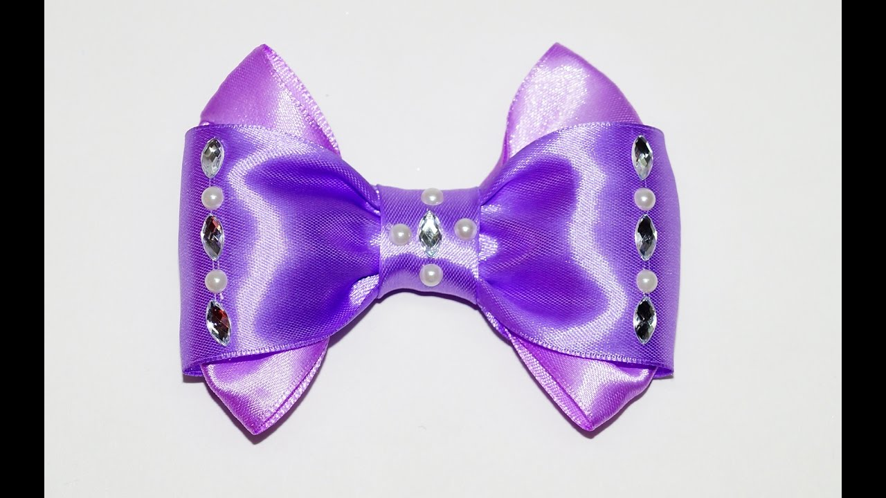 how to make a ribbon bow easy