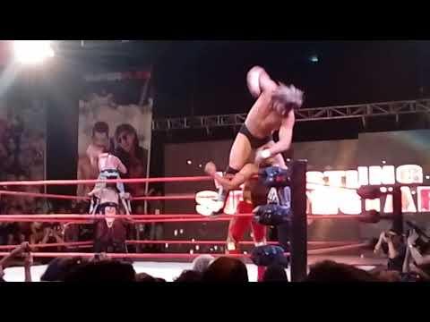 Show SuperPlex. Matt Sydal & Kenny Omega in Santiago, Chile. Wrestling Superstars. January, 2017