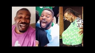 Nigeria Celebrities Run Mad After Nigeria Beat Iceland Part 2 ft Donjazzy Falz Wizkid amp More