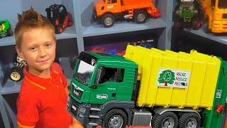 Брудер МАШИНКИ Огляд Іграшок з Ігорьком і Аріною BRUDER TOYS CARS Розваги для дітей