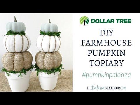 PUMPKIN PALOOZA 2018 | $5 PUMPKIN DIY | DIY Farmhouse Fall Topiary