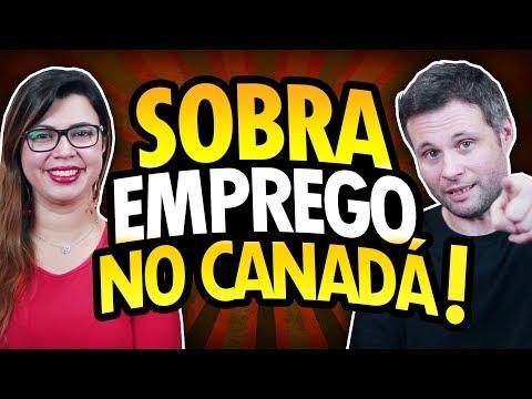 ESTÁ SOBRANDO EMPREGO NO CANADÁ