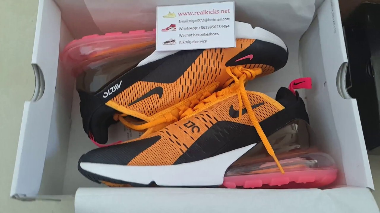 Nike Air Max 270 Yellow Black Red White AH8050-706 - YouTube ad4a849778