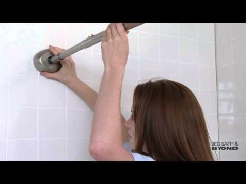Glacier Bay Tension Shower Rod Installation.The Gripper Easy Install Adjustable Curved Shower Rod At Bed Bath