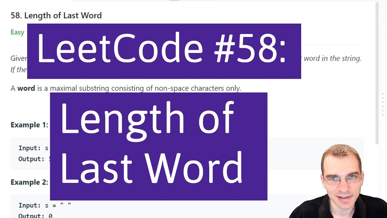 Python Programming Practice: LeetCode #58 Length of Last Word