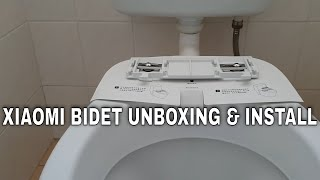 How to install a bidet - Xiaomi Mijia SmartMi smart heated toilet seat