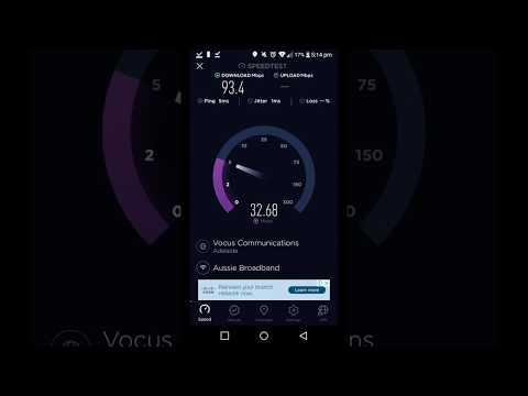 Aussie Broadband NBN FTTC Speed Test
