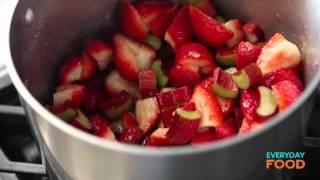 Strawberry-rhubarb Sundaes | Everyday Food With Sarah Carey