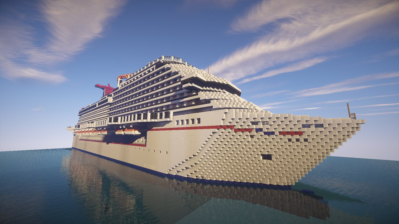 Minecraft Cruise Ship Carnival Breeze Cinematic Youtube