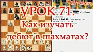 Шахматы - Как изучать дебют? - Для 3 разряда.