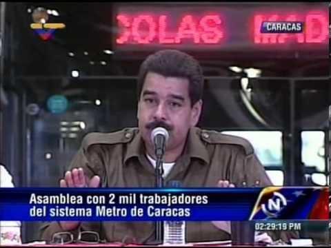 02 MAY 2013 Asamblea con Trabajadores del Metro de Caracas