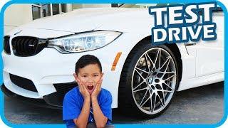 KIDS Test Driving BMW CARS with DAD, Fidget Spinner Fun - TigerBox HD