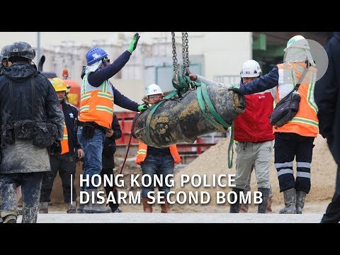 Bomb in Hong Kong: Police defuse second wartime bomb found at Wan Chai construction site