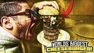 WORLD'S BIGGEST CHEESEBURGER!! (WORLD RECORD!) COOKING WITH MAMA REZ 😱 - MINDOFREZ FAMILY VLOG!