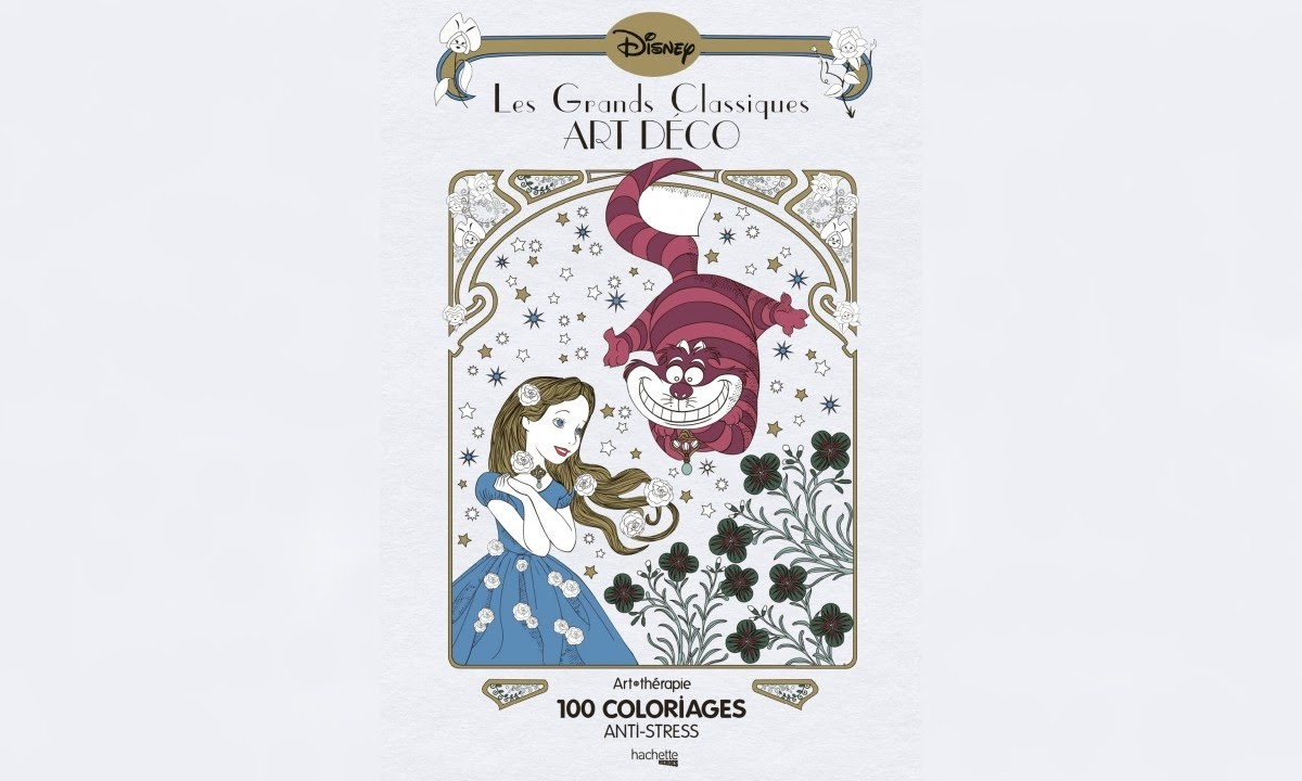 Coloriage Anti Stress Grand Format.Presentation Hachette Les Grands Classiques Art Deco Disney Youtube