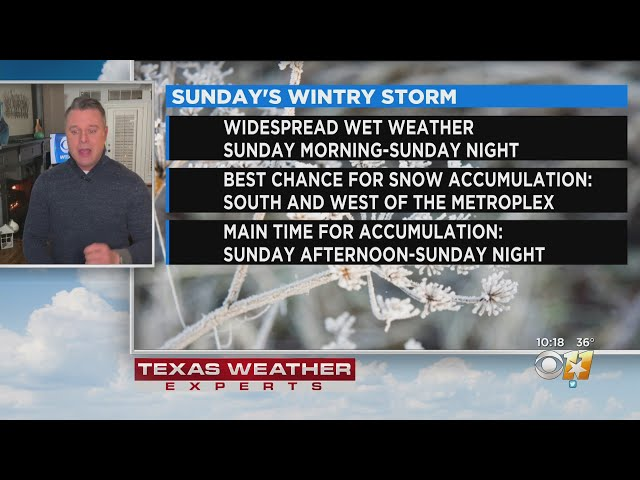 Wintry Weather Expected Sunday