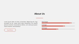 Responsive About Us Section Using Only HTML & CSS