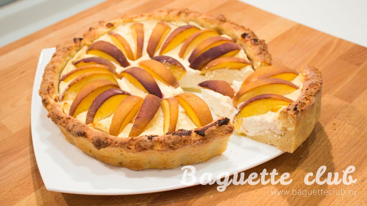 как приготовить творожный торт с персиками с фото