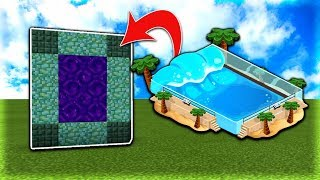 How To Make a Portal to the Ocean Dimension in MCPE (Minecraft PE)